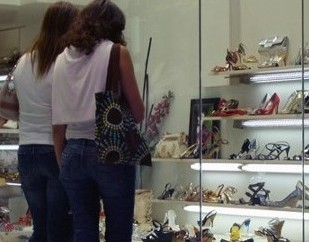 Women Shopping for Shoes